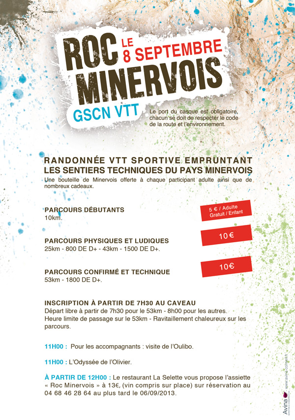 Recto Flyers Roc Minervois