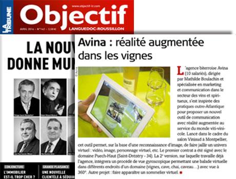 Article Objectif Languedoc-Roussillon, Avina : réalité augmentée dans les vignes