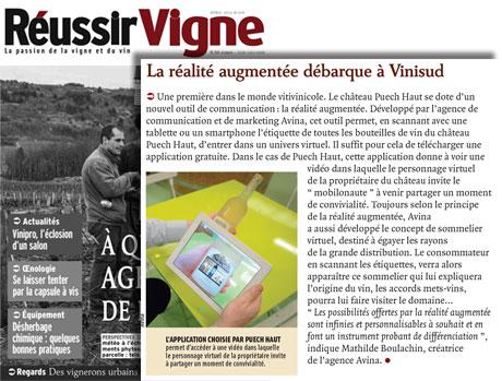 Article Réussir Vigne, la réalité augmentée débarque à Vinisud