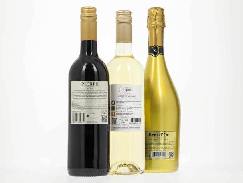 Contre-étiquette de Vin