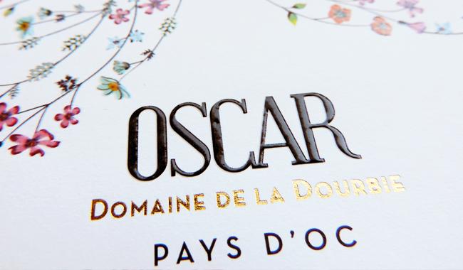 Avina, création d'étiquette pour la cuvée Oscar du Domaine de la Dourbie