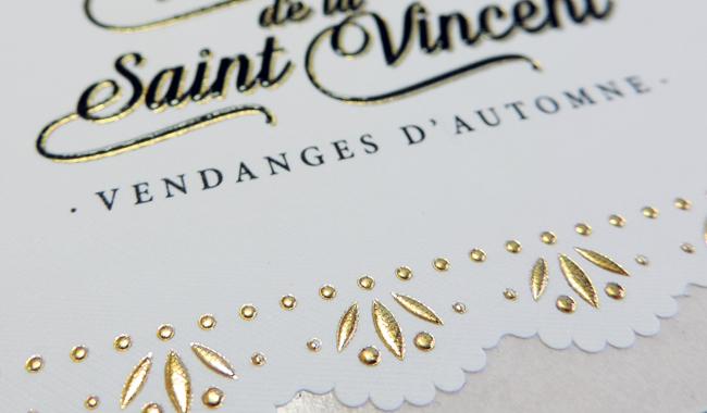 Avina, création d'étiquette pour  Vendanges de la Saint Vincent